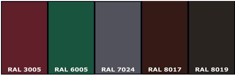 Basic colors in the RAL palette 1