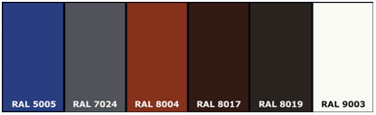 Basic colors in the RAL palette 2