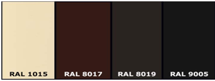 Basic colors in the RAL palette 3